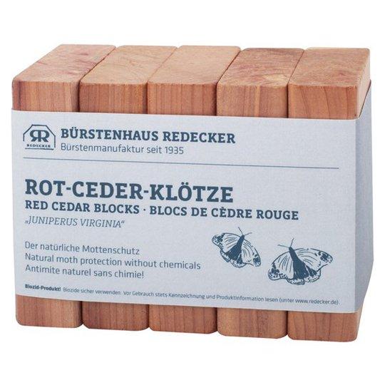Redecker Block Rödcederträ, 5 st