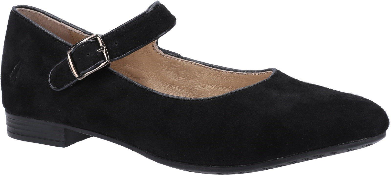 Hush Puppies Women's Melissa Strap Flat Shoe Various Colours 31954 - Black 8