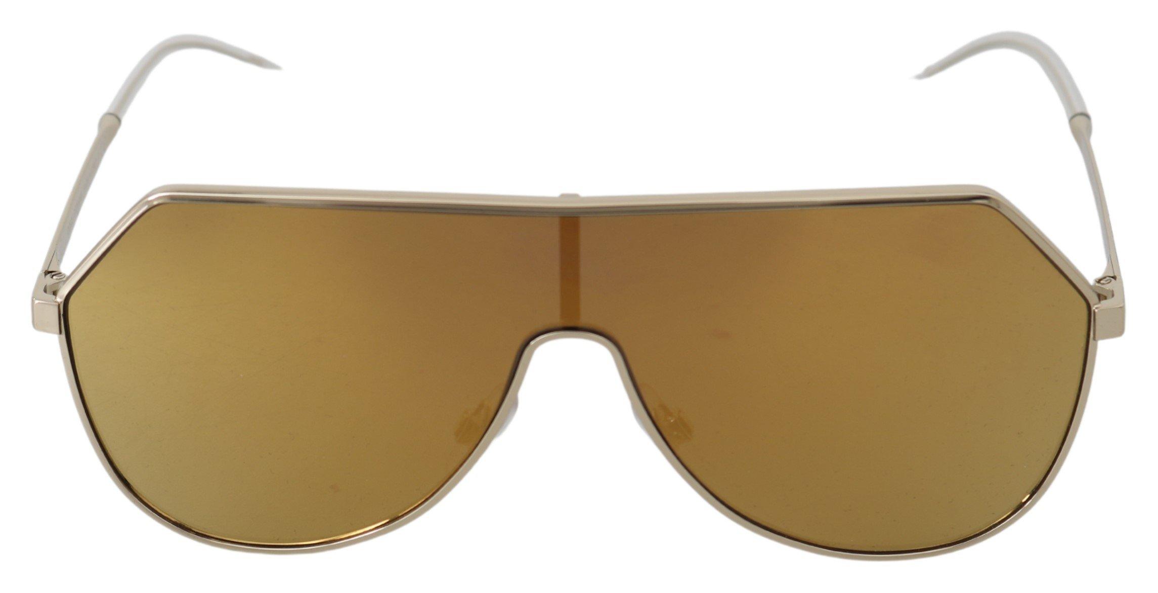 Dolce & Gabbana Women's Logo Shield Sunglasses Gold GLA769