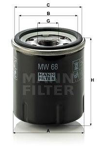 Öljynsuodatin MANN-FILTER MW 68