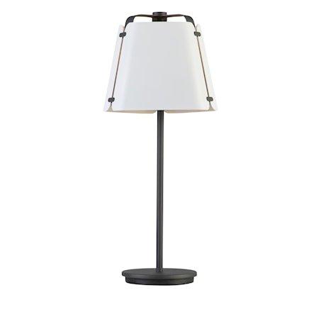 Fold Bordlampe Antrasitt/Hvitstruktur 27 cm