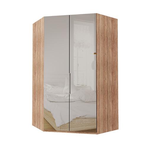 Walk-in Atlanta garderobe 216 cm, Speil, Lys rustikk eik