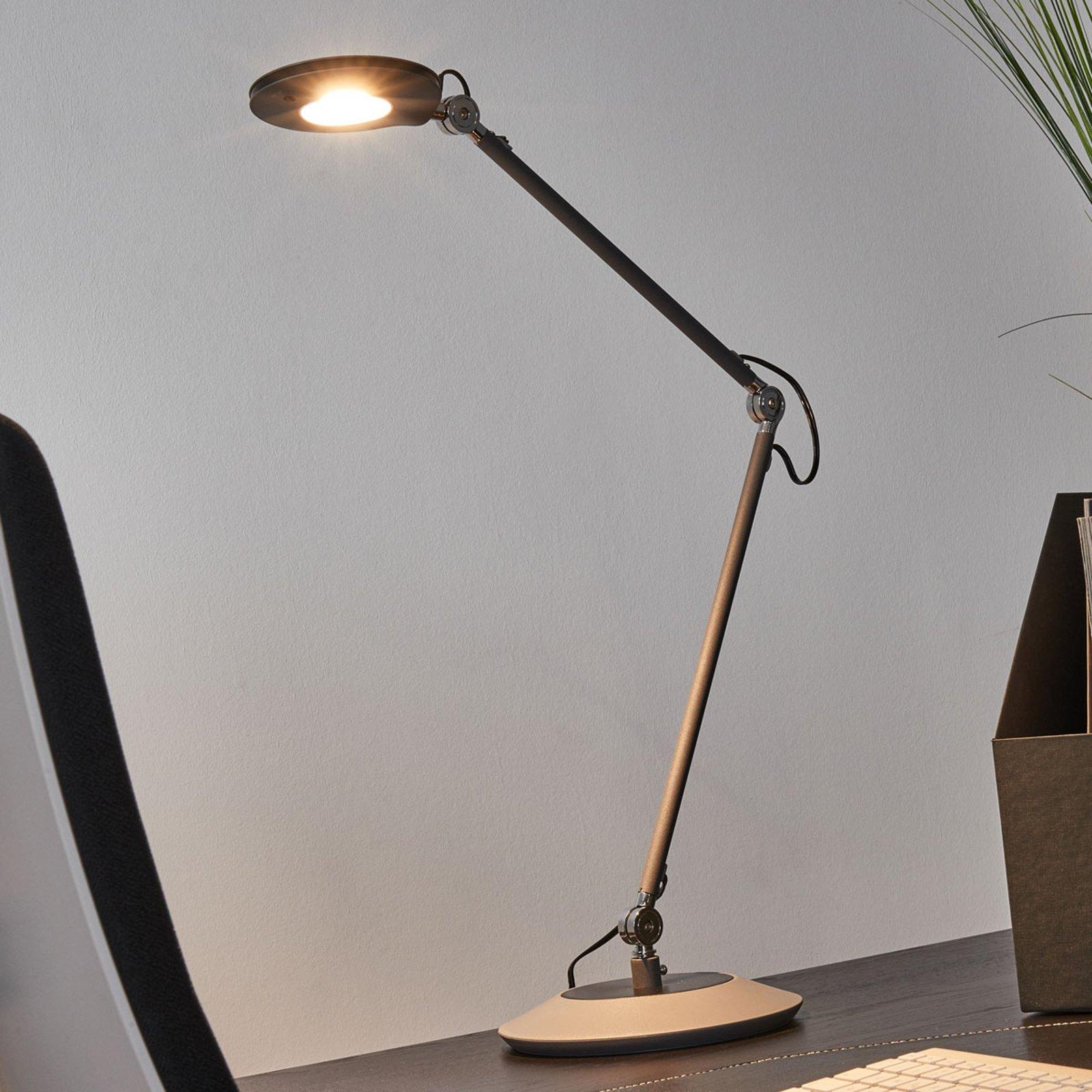 Antrasittfarget LED-stålampe Roderic