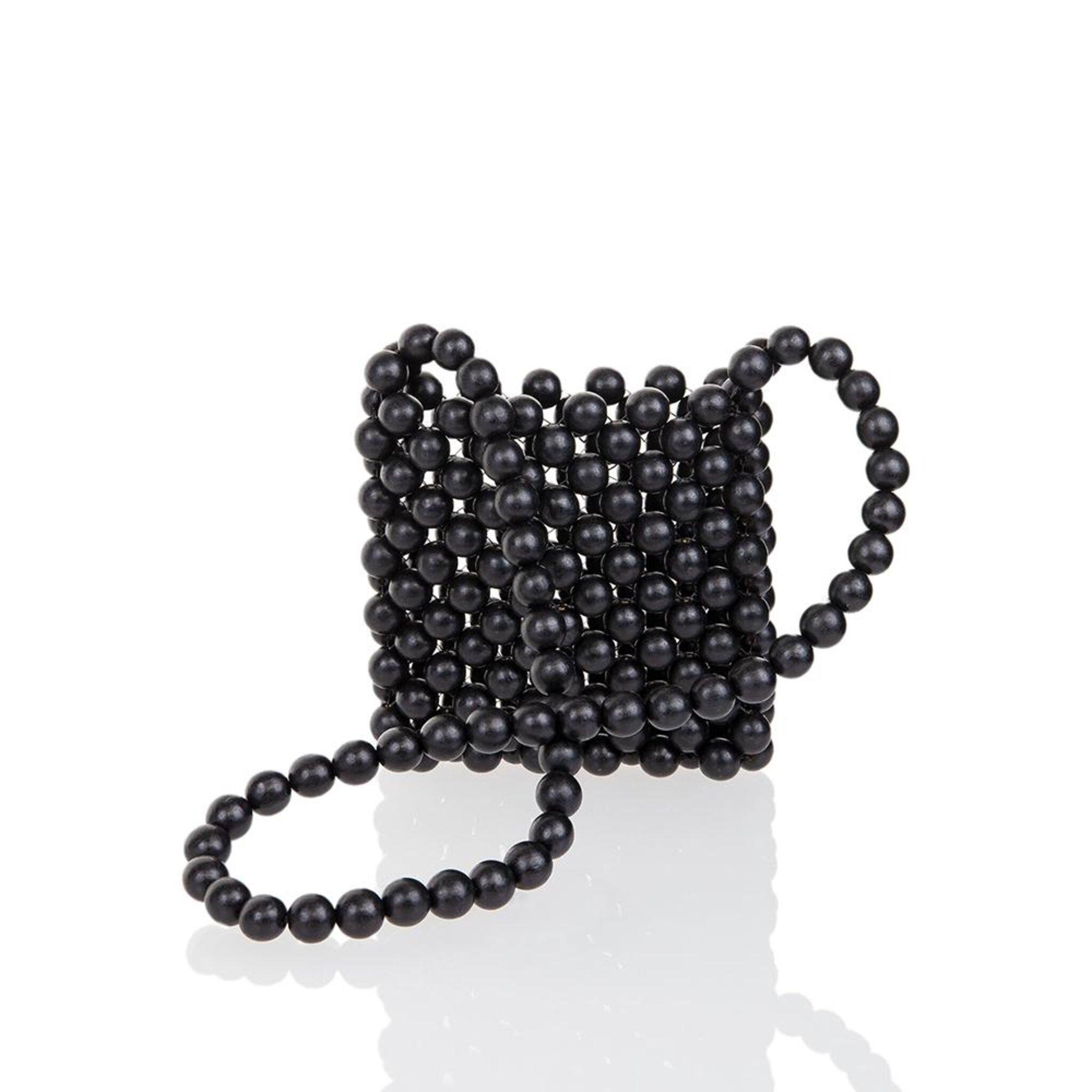 Mia Black Small Beadbag