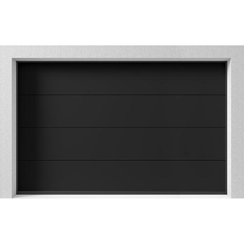 Garasjeport Leddport Moderne Basic Sort, 3000x2000