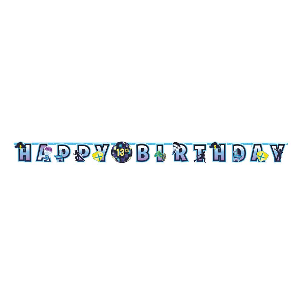 Bokstavsgirlang Happy Birthday Battle Royale