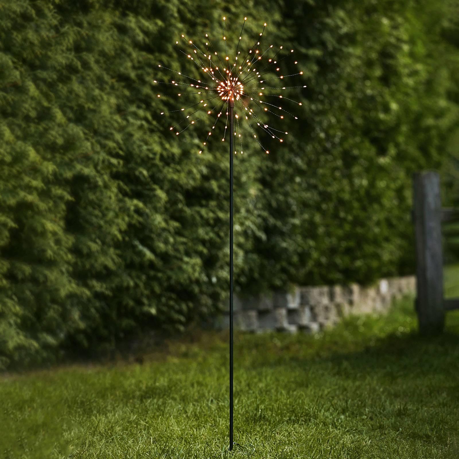 Firework Outdoor -LED-koristevalo, lämmin valk.