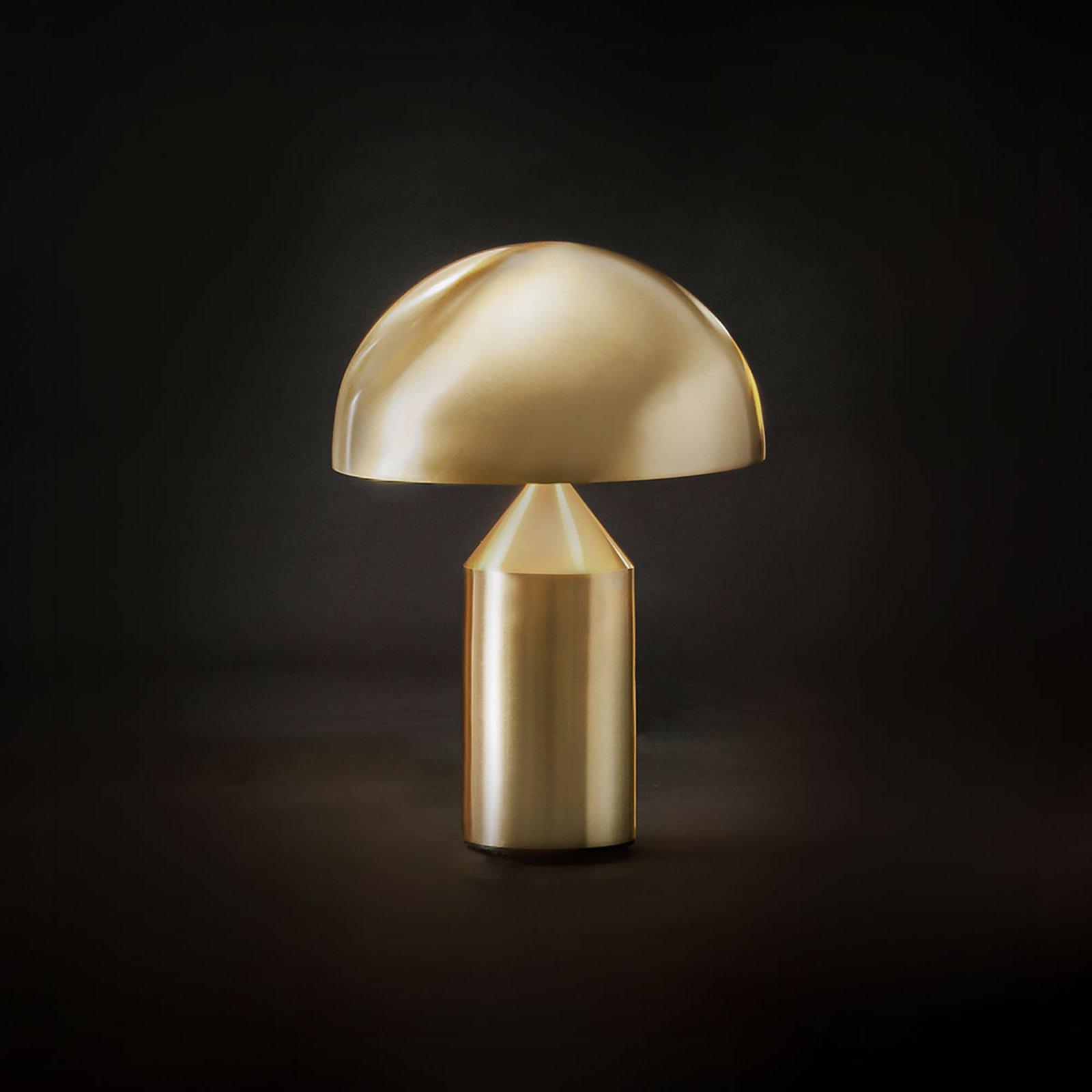 Oluce Atollo - bordlampe i gull, 35 cm