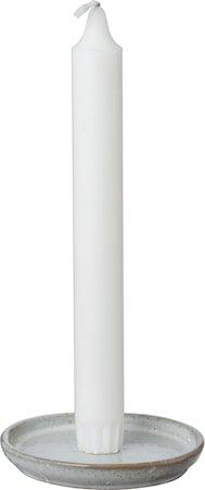 Glasert Lysfat med pigg Hvit