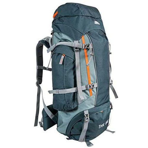 Trespass Unisex Camping Hiking Bag Backpack Various Colours Trek66 - Olive 66 Litre