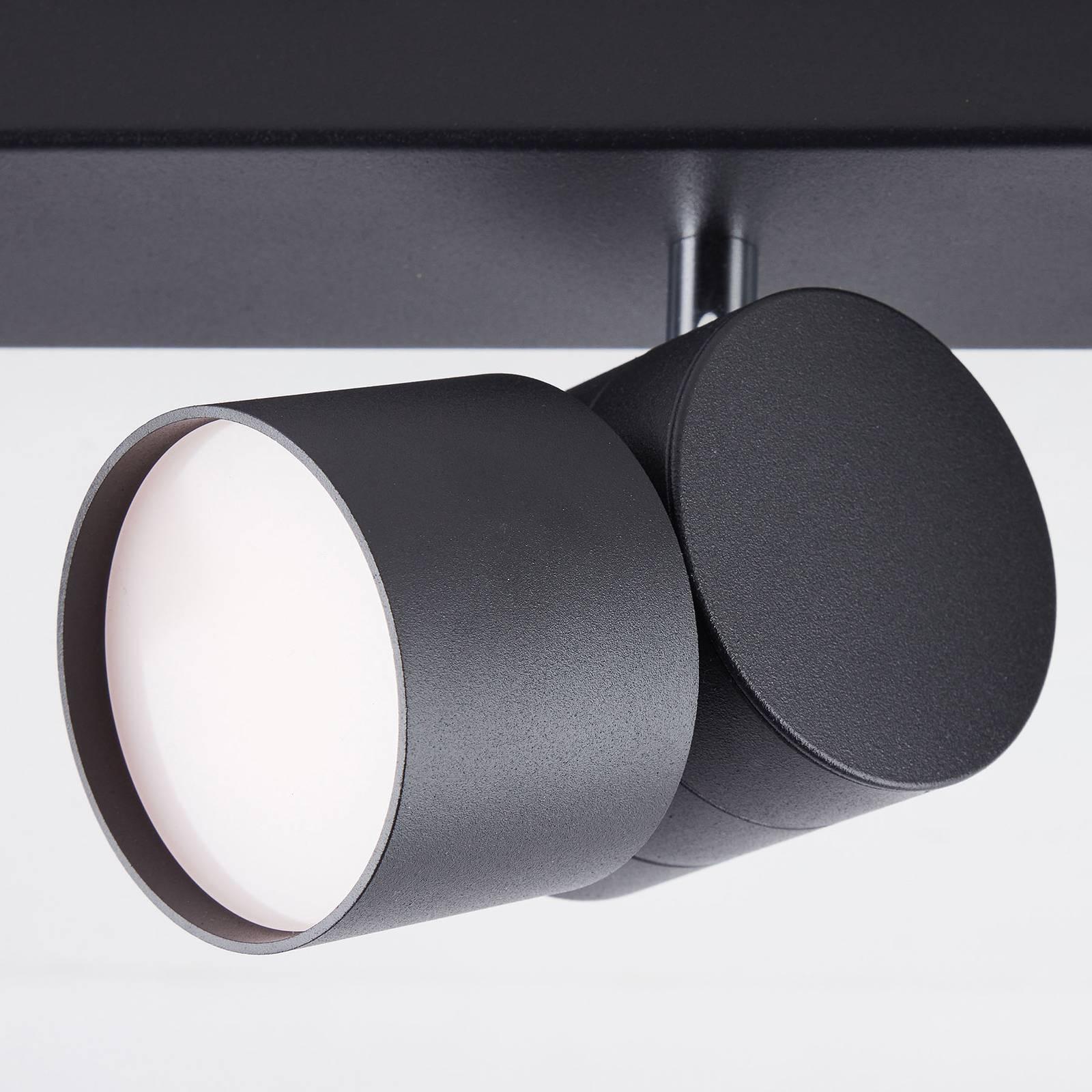 AEG Twine -LED-kattokohdevalo musta, 4-lamppuinen
