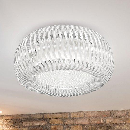 Slamp Kalatos -kattovalaisin, läpinäkyvä/valkoinen