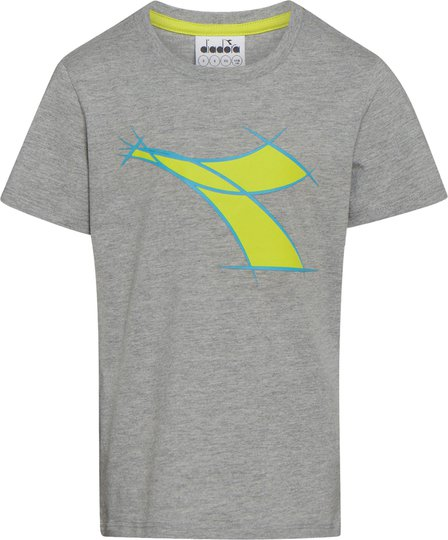 Diadora T-Shirt, Light Mid Grey Mel S
