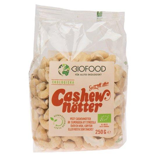Biofood Ekologiska Cashewnötter Hela, 250 g