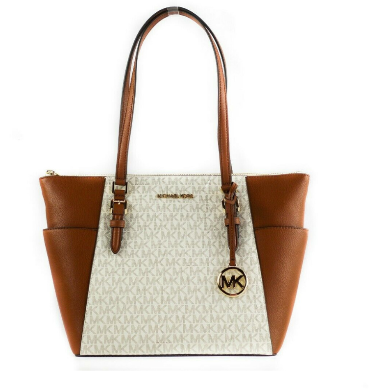 Michael Kors Women's Charlotte Tote Bag Vanilla 17074