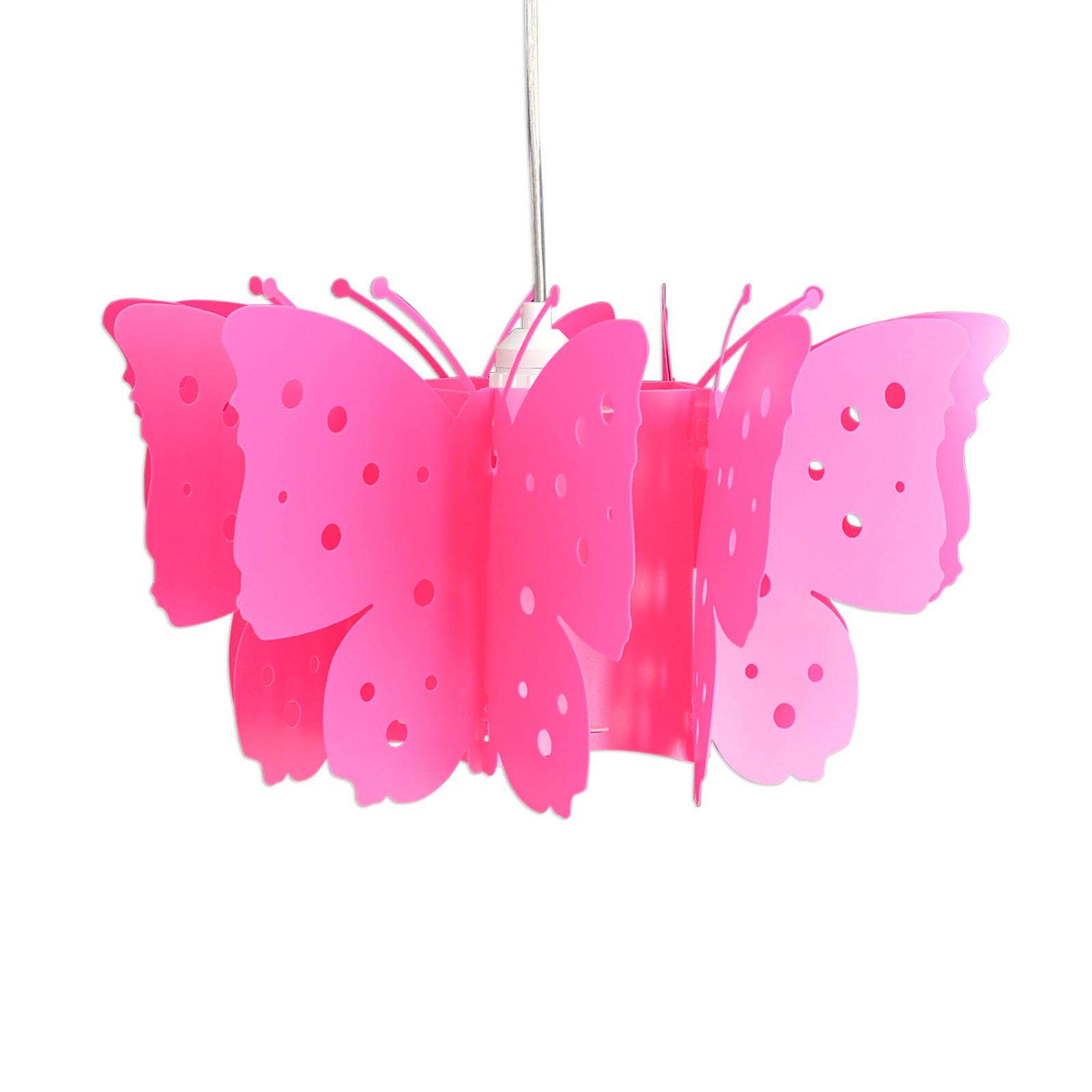 Riippuvalaisin Kizi, vaaleanpunainen, perhosia