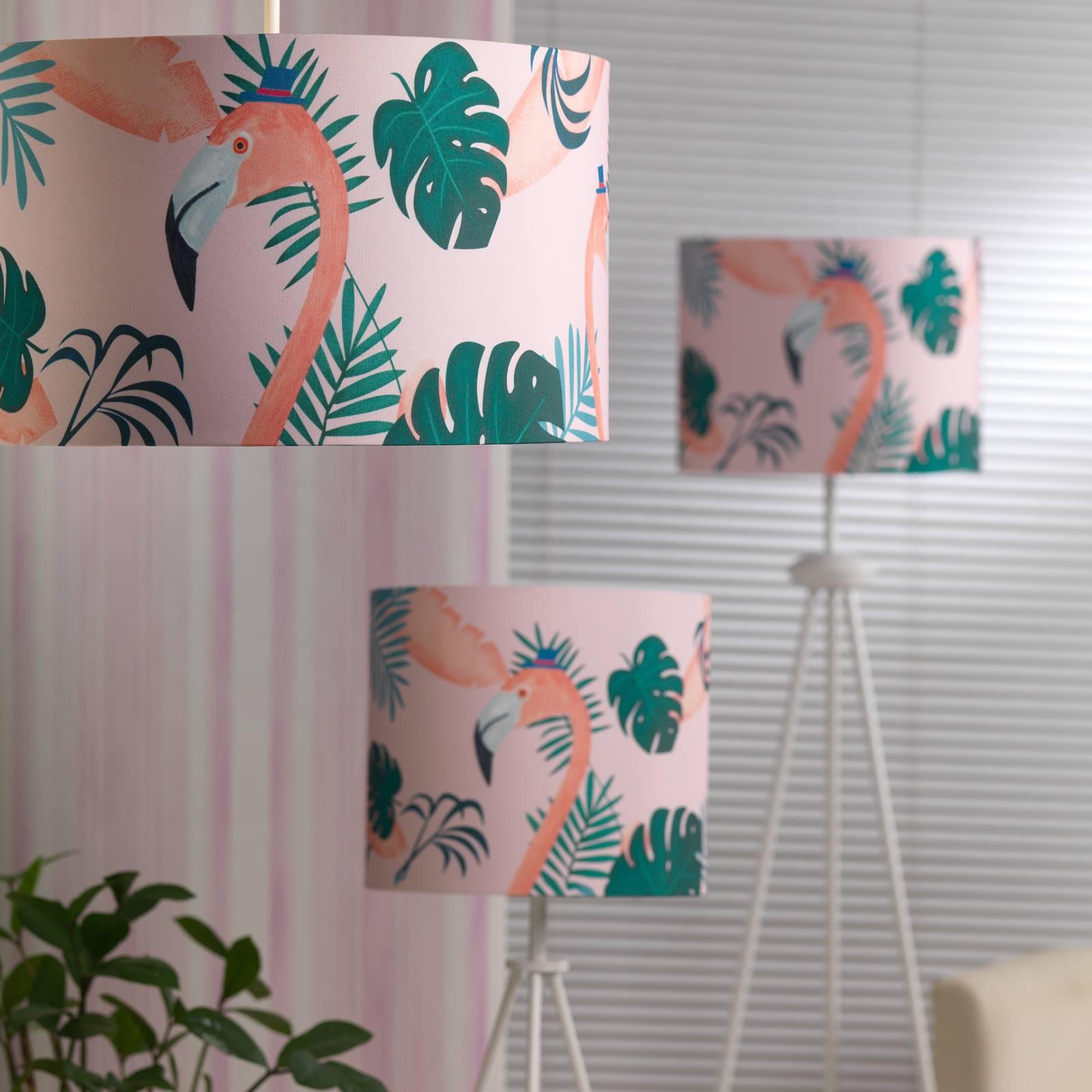 Lattiavalaisin Flamingo, värikäs kangasvarjostin