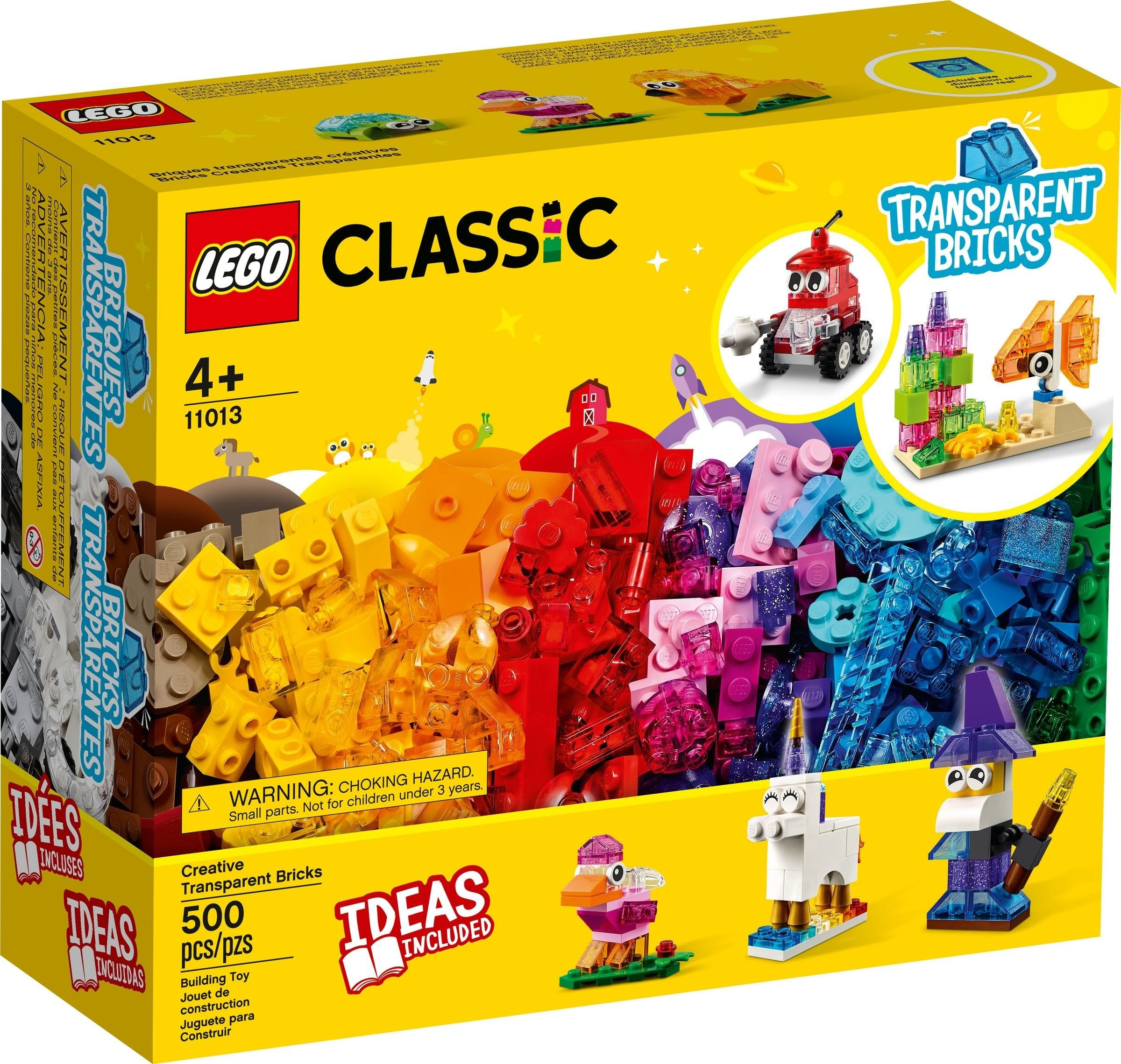 LEGO Classic - Creative Transparent Bricks (11013)