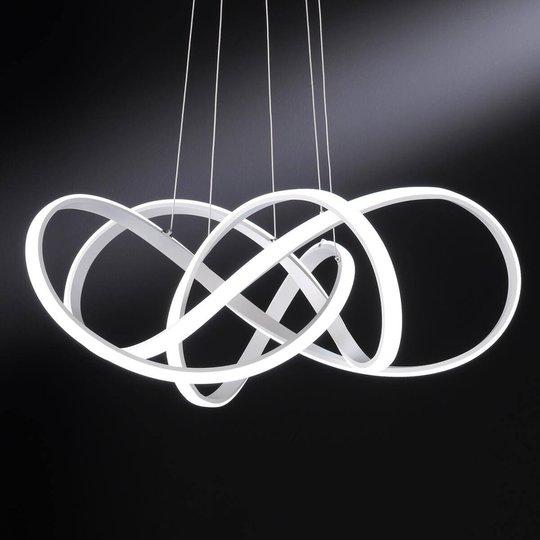Vaalea LED-riippuvalaisin Art upeaa designia