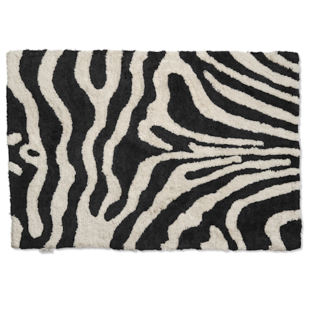 Badrumsmatta Zebra 60x90 Svart/Vit