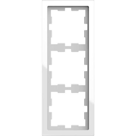 Schneider Electric MTN4030-6520 Yhdistelmäkehys 3 aukkoa, lasi Kristalli, valkoinen