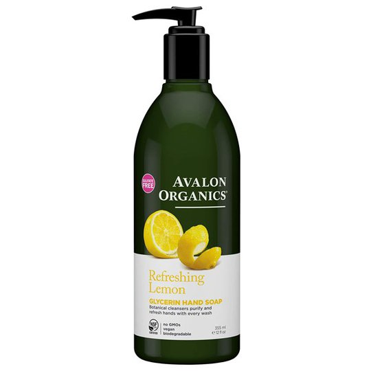 Avalon Organics Refreshing Lemon Glycerin Hand Soap, 355 ml