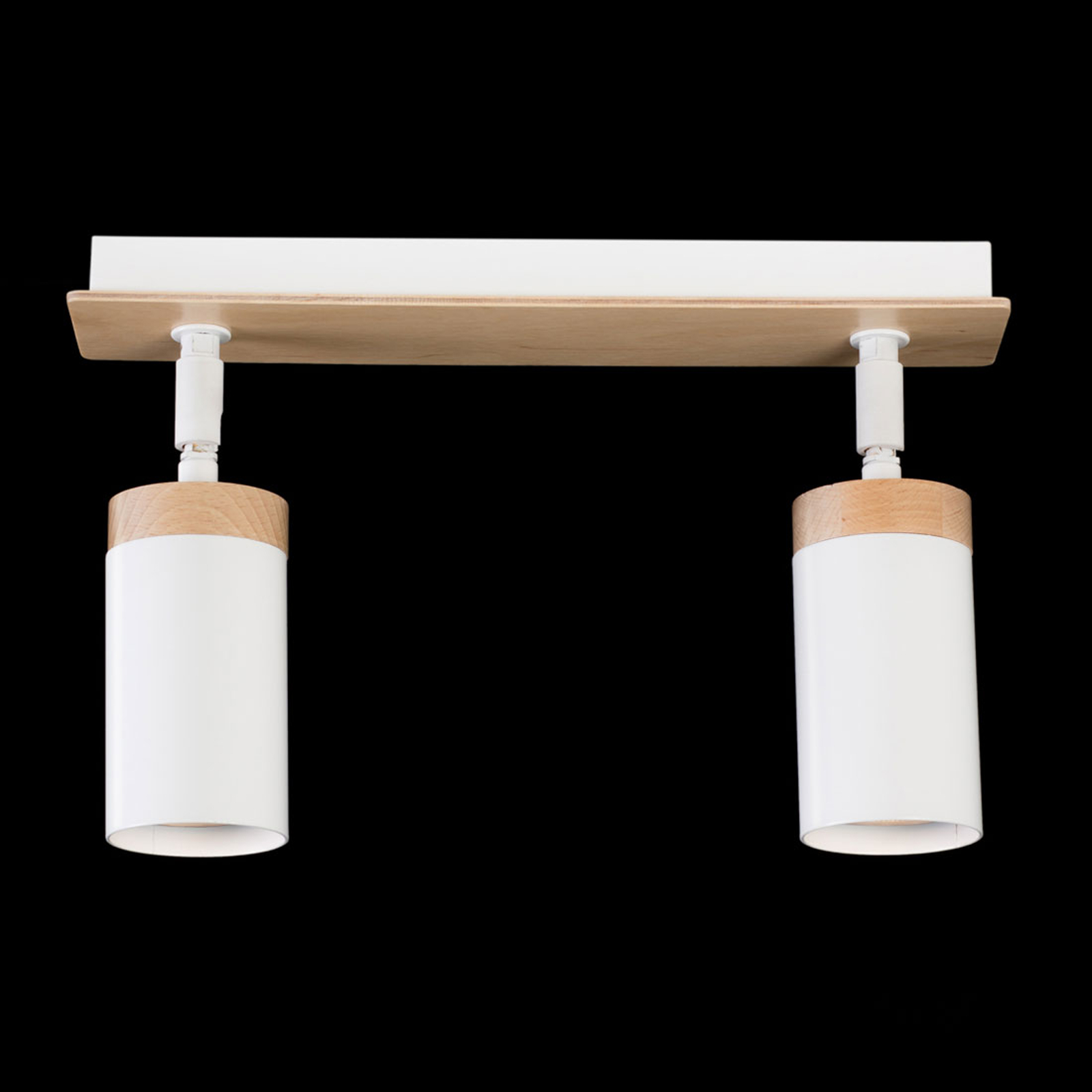 Kattokohdevalo Elba, kaksilamppuinen, valkoinen