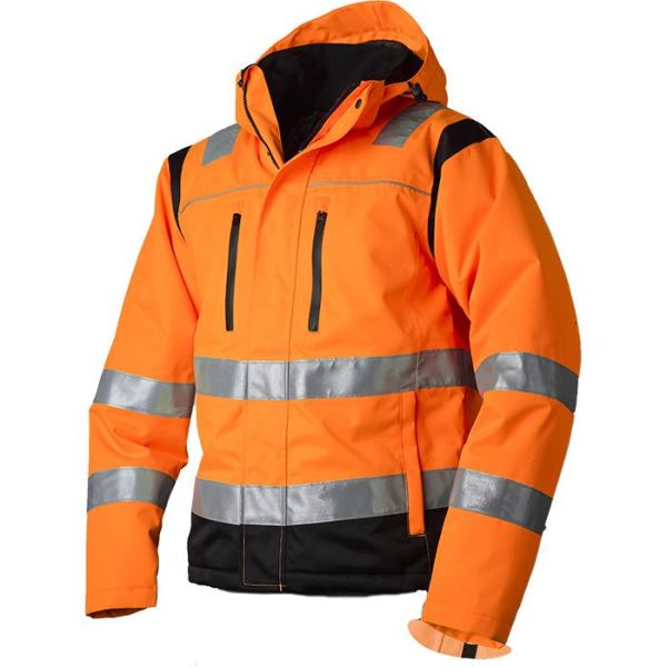 Vidar Workwear V40092503 Vinterjacka orange/svart XS
