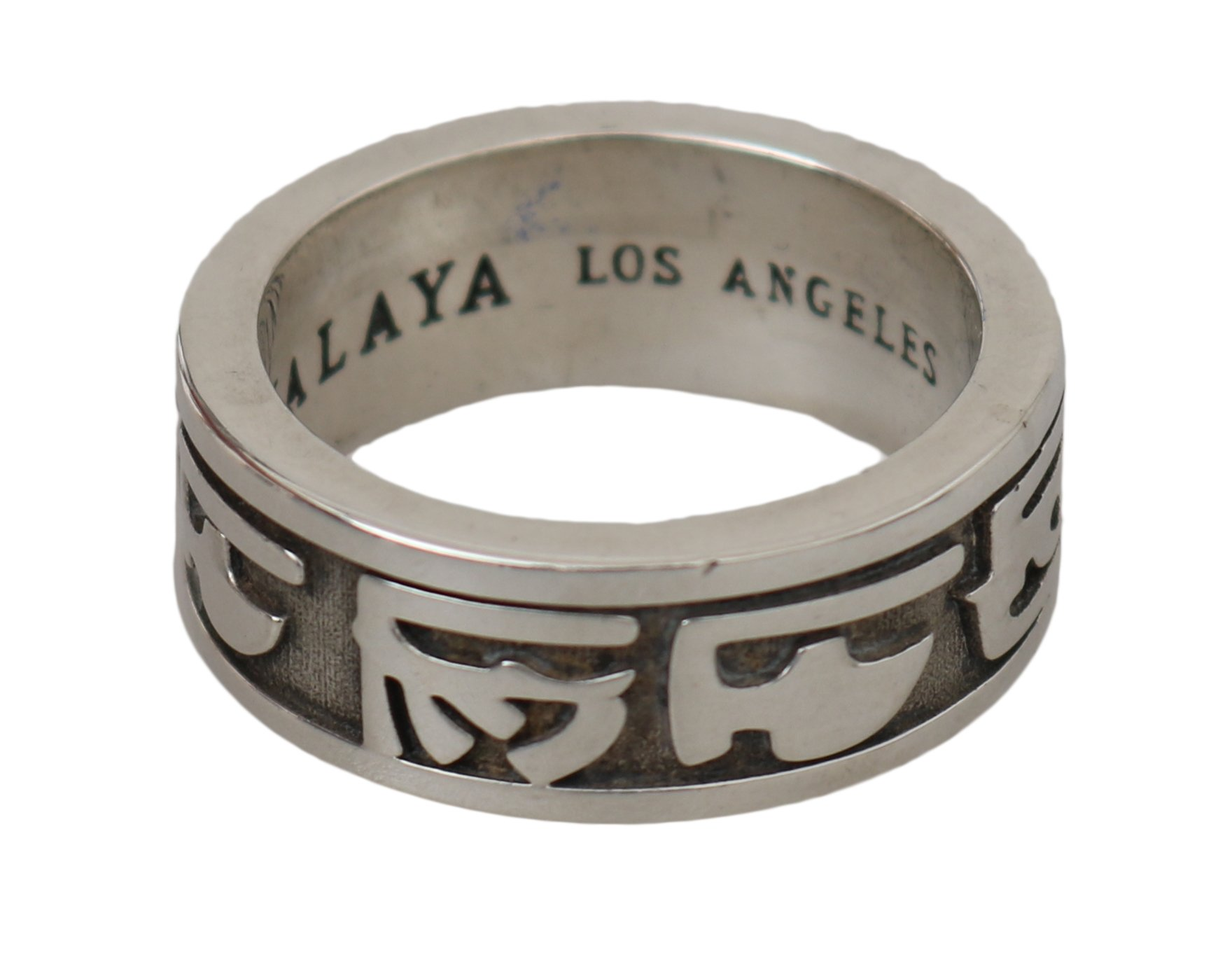 Nialaya Men's Sterling Hieroglyph 925 Authentic Ring Silver NY103 - EU62 | US10.5