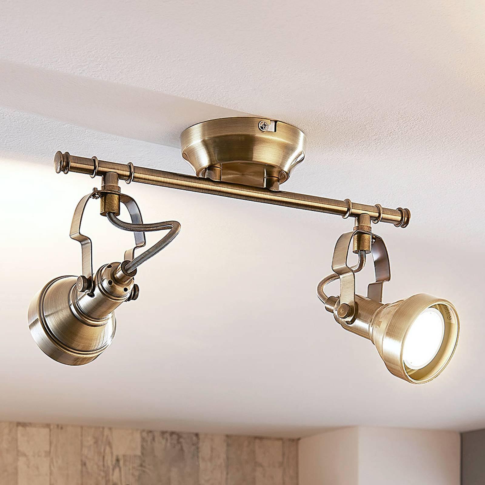 2-lamppuinen LED-kattovalaisin Perseas, GU10