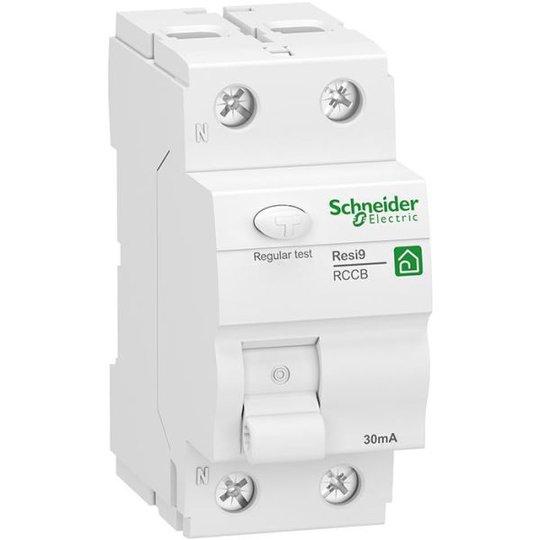 Schneider Electric Resi9 Vikavirtasuoja 2-napainen, 25 A