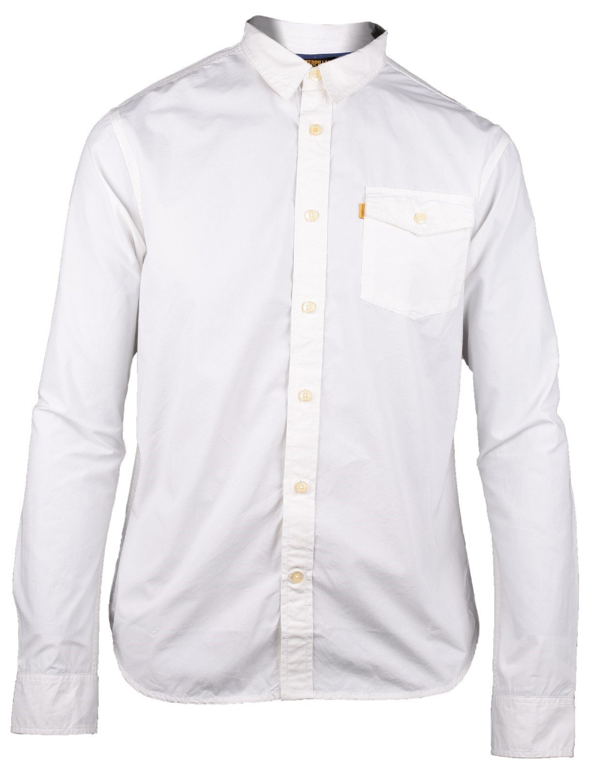 CAT Lifestyle Men's Exchange LS Shirt White 22897 - White Xsl