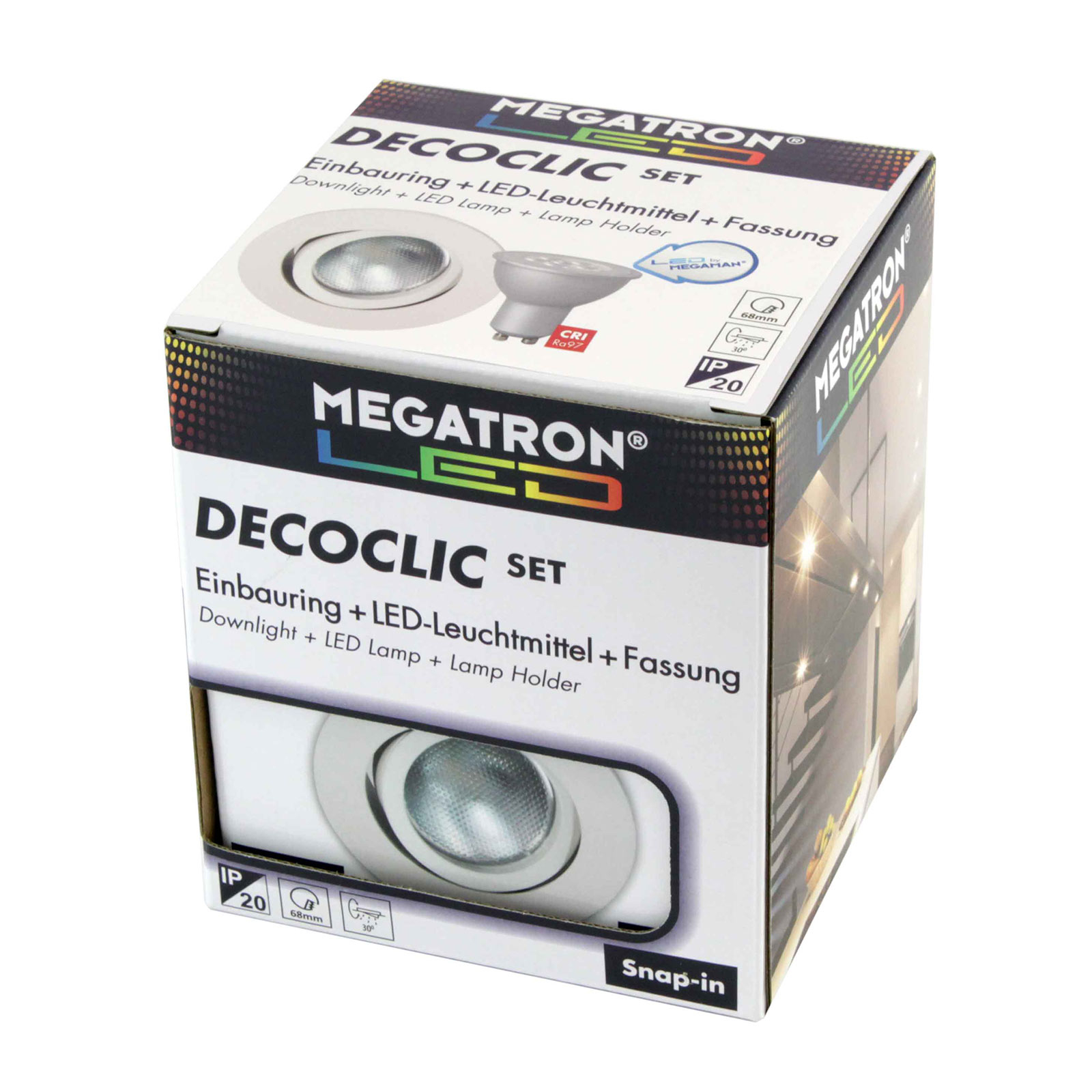 LED-kohdevalo Decoclic Set, GU10 6 W valkoinen
