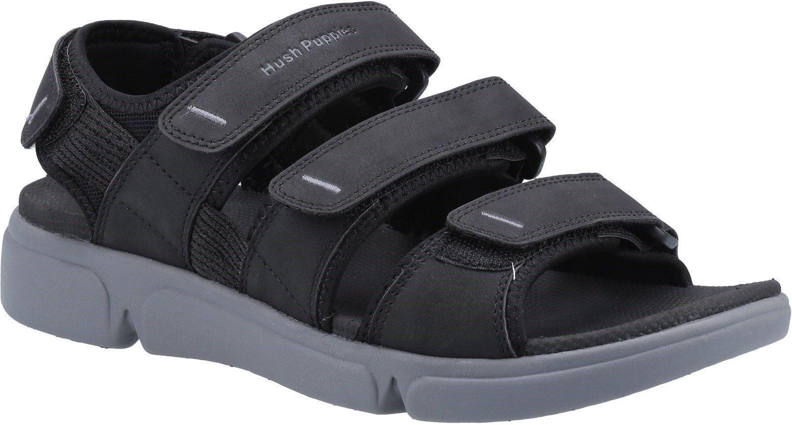 Hush Puppies Men's Raul Multi Velcro Sandal Various Colours 31983 - Black 6