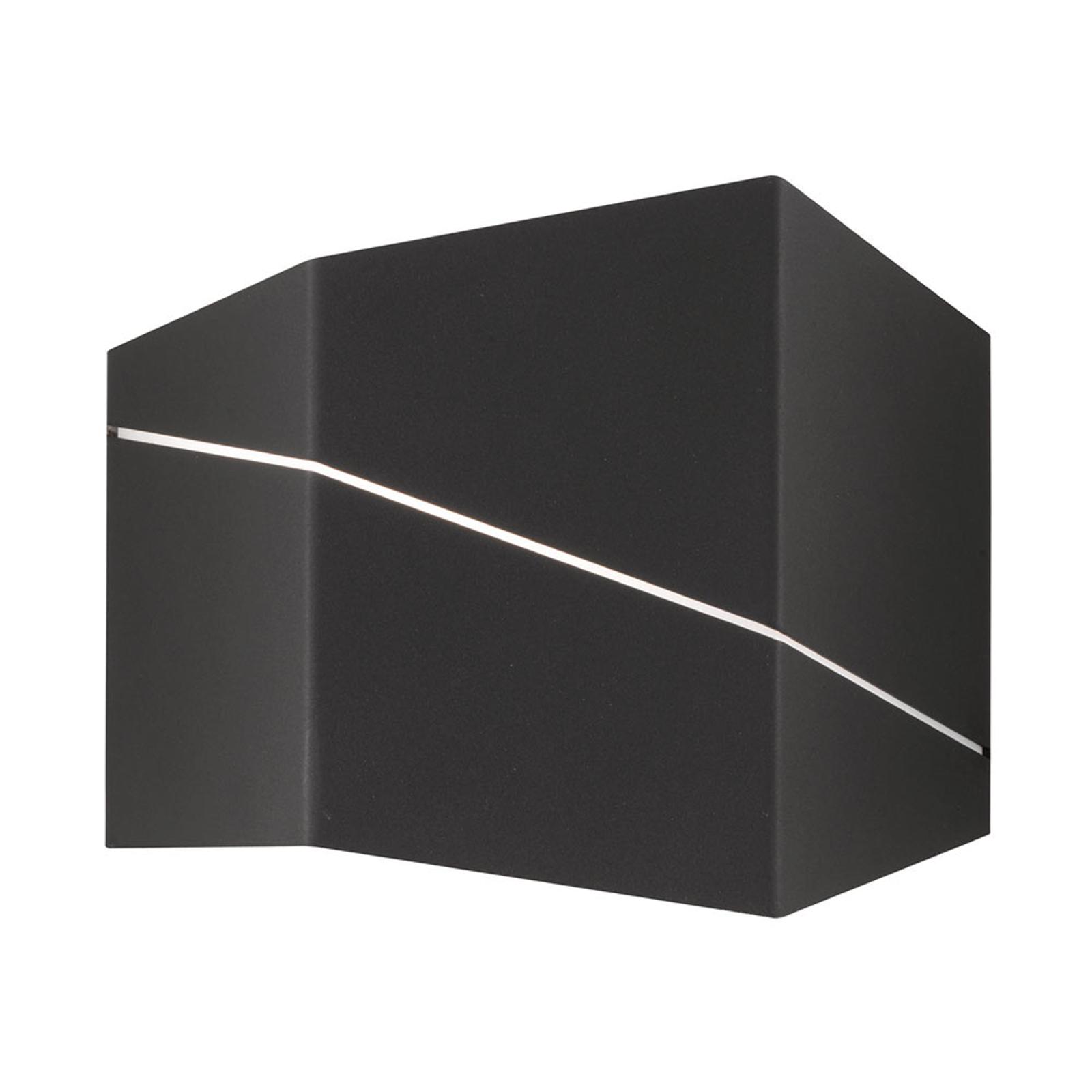 Zorro - moderni LED-seinävalaisin, mattamusta 18cm