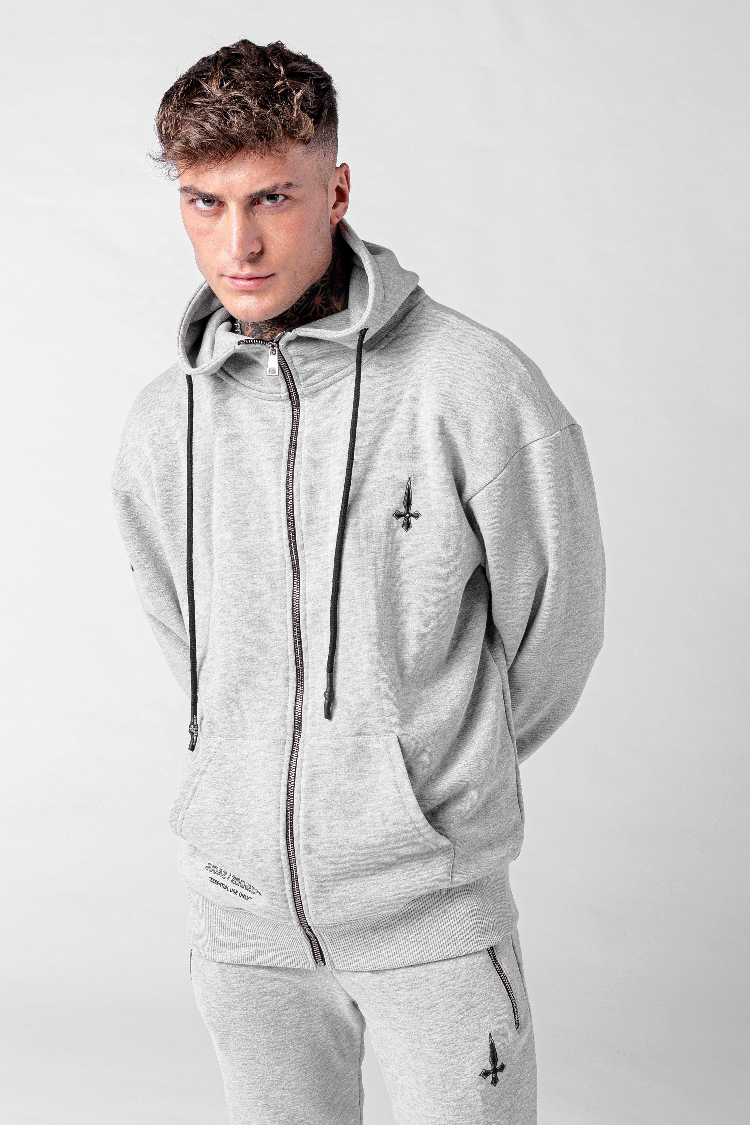 Culo Essential Zip Men's Hoodie - Grey Marl, Small