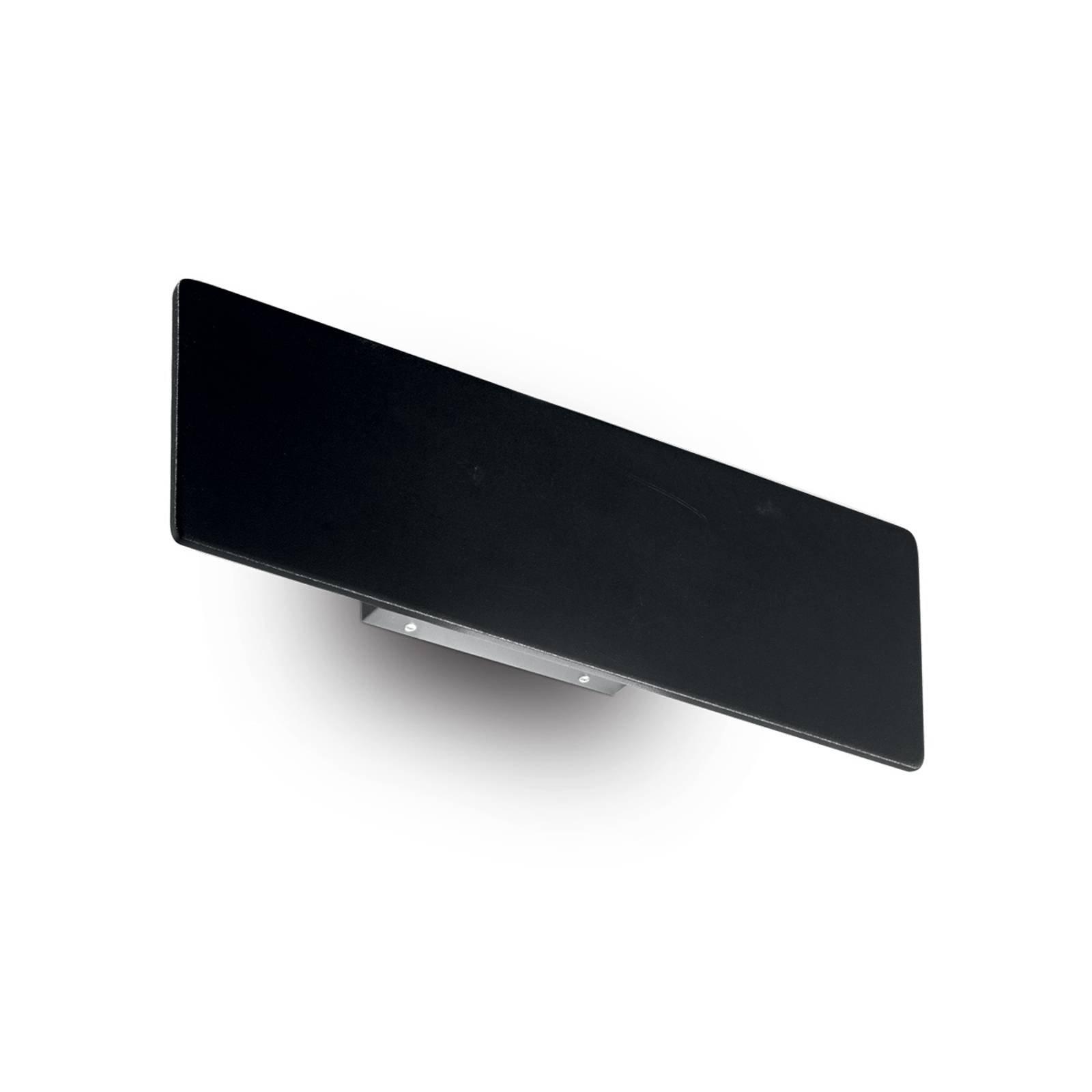 LED-vegglampe Zig Zag svart, bredde 29 cm