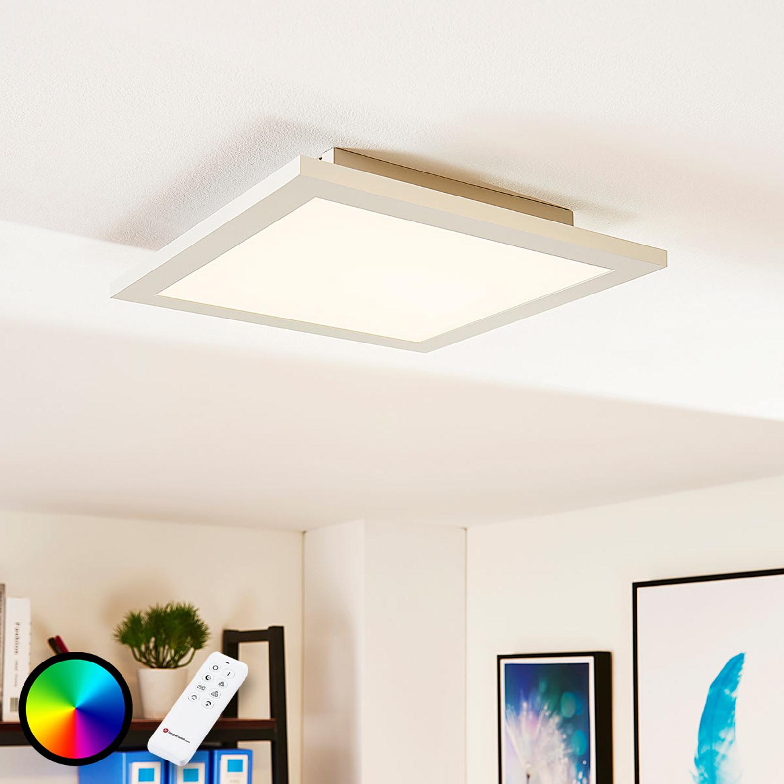 Arcchio Tinus -LED-paneeli, RGB, 29,5 cm x 29,5 cm