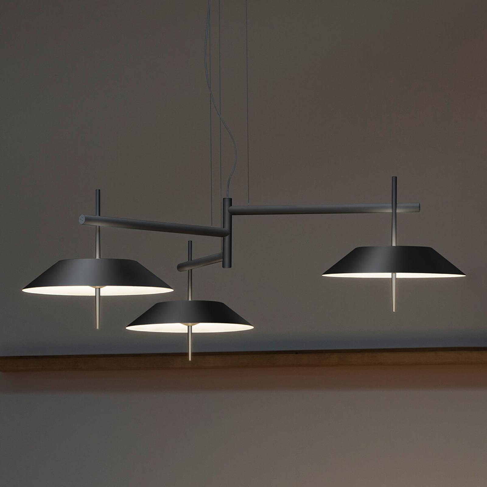 Grafiitinharmaa LED-riippuvalo Mayfair, 3-lamp.