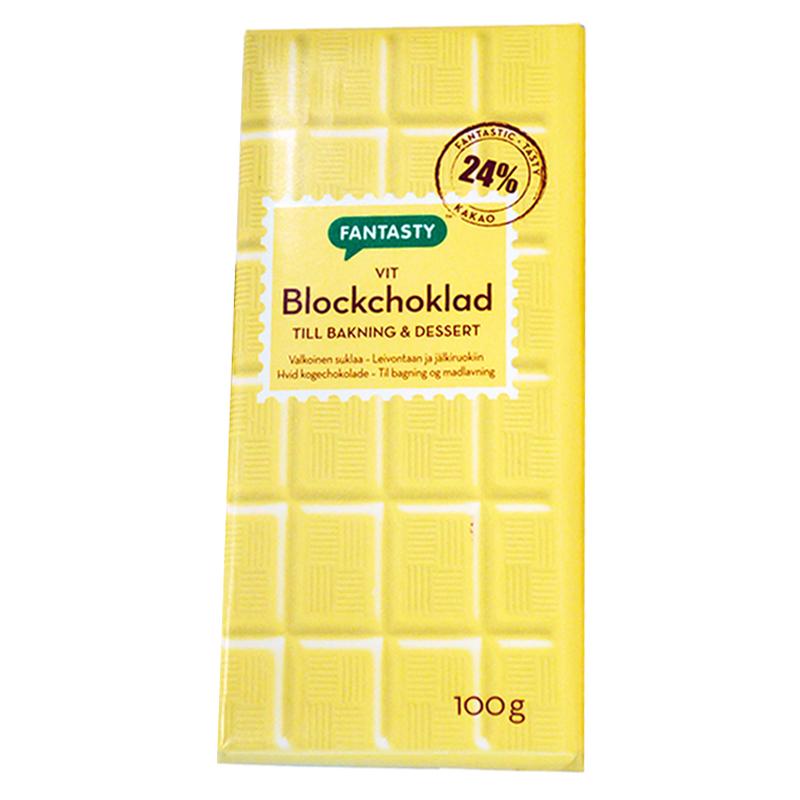 Blockchoklad Vit - 28% rabatt