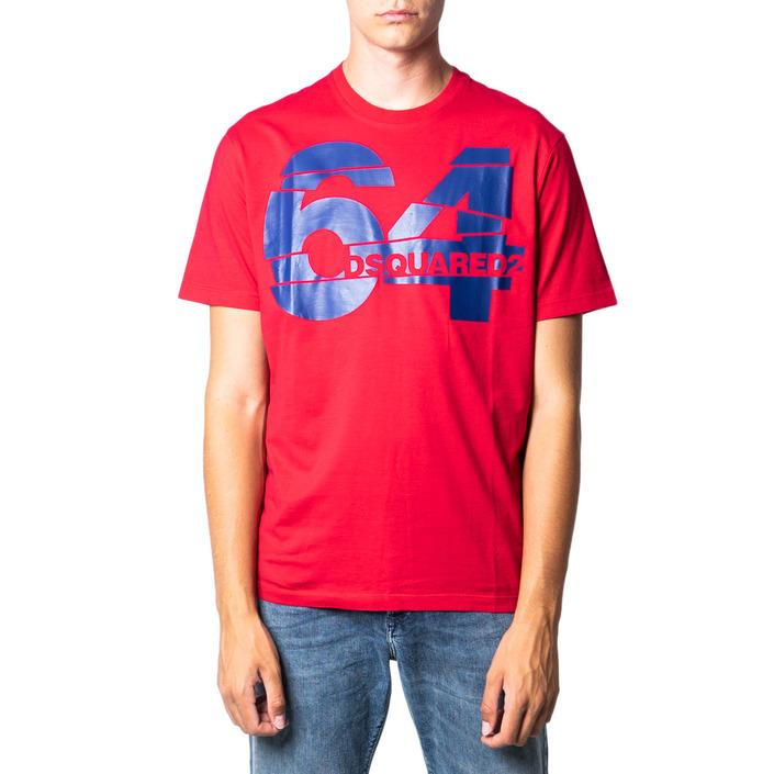 Dsquared Men's T-Shirt Red 175414 - red S
