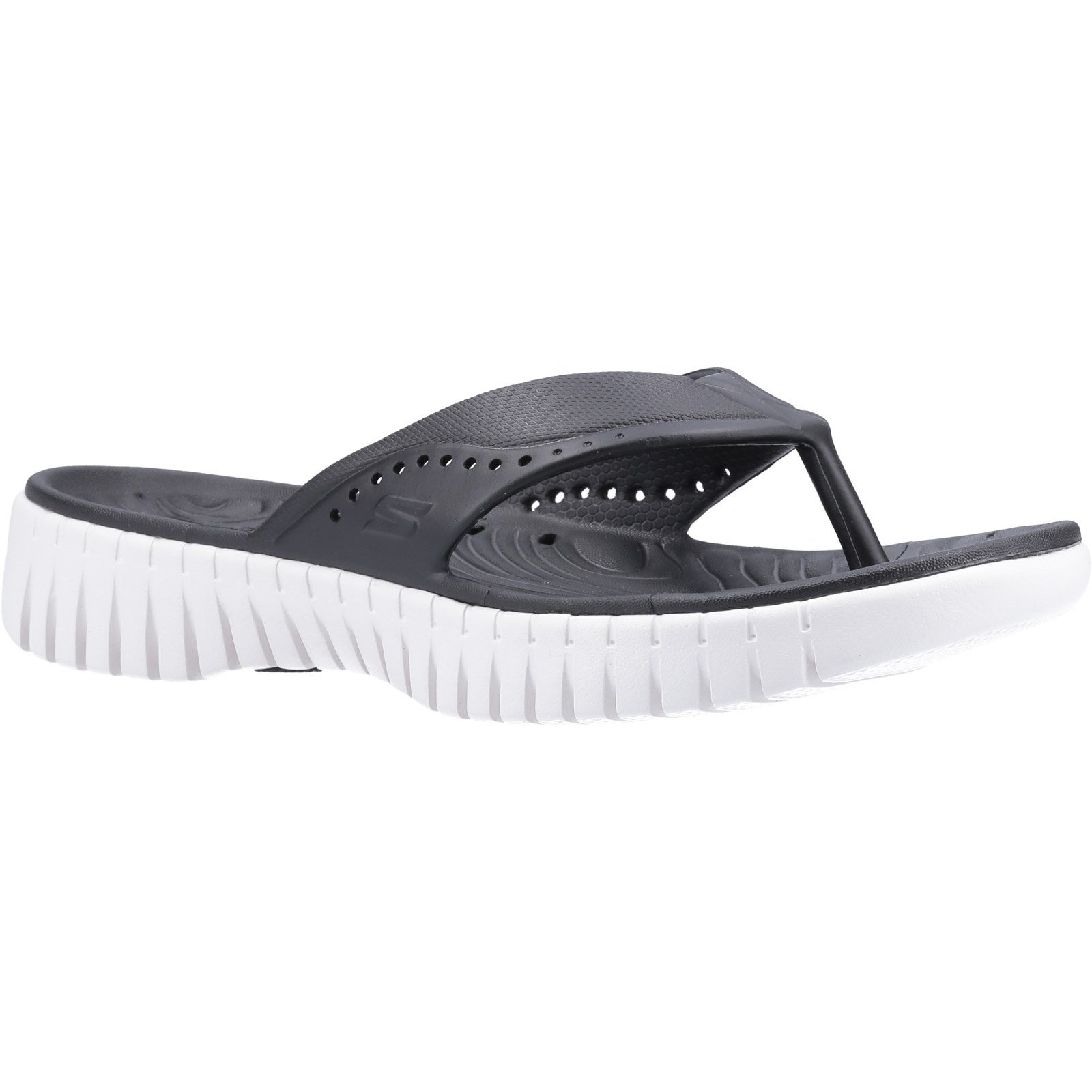 Skechers Women's GOwalk Smart Mahalo Sandal Various Colours 32371 - Black/White 2