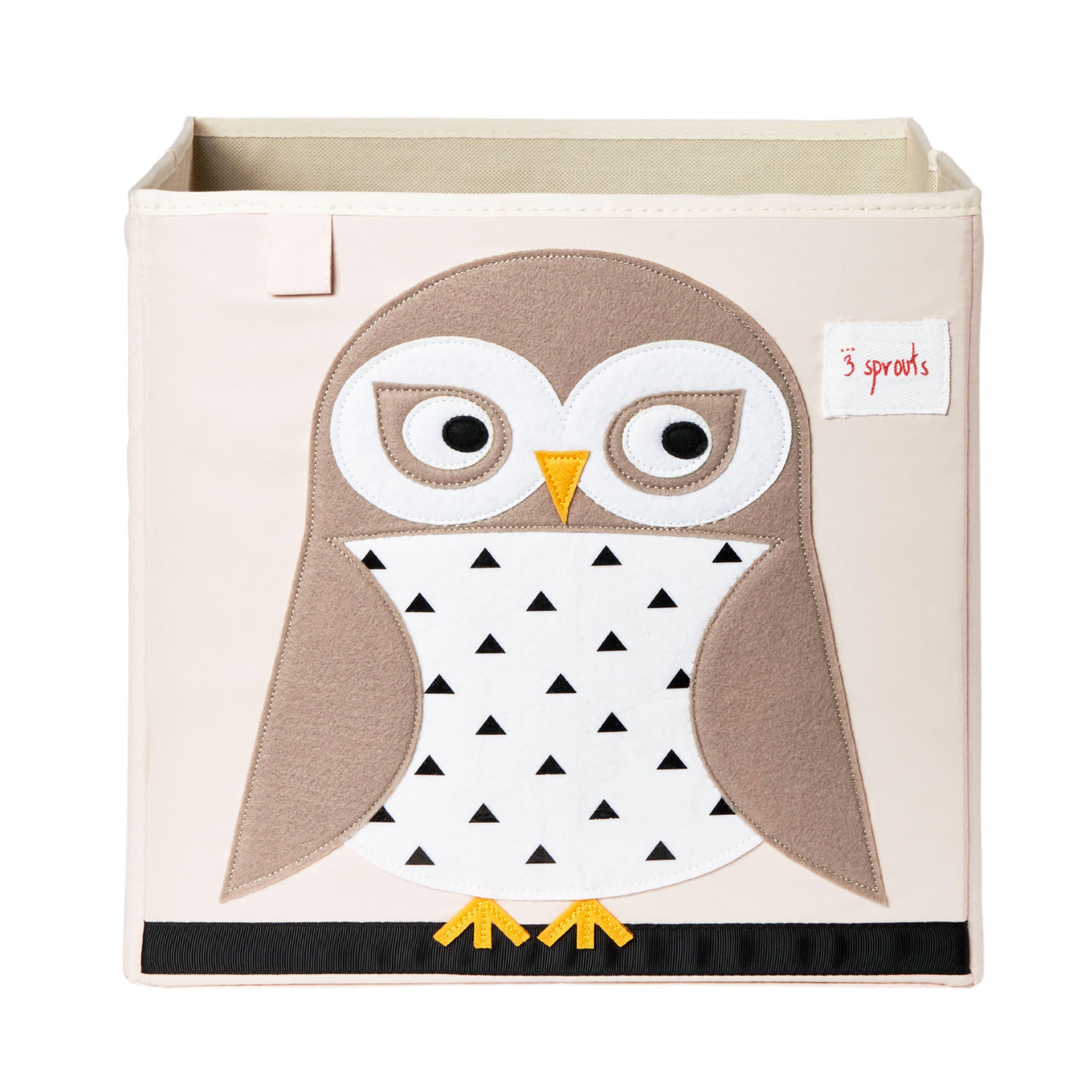 3 Sprouts - Storage Box - White Owl