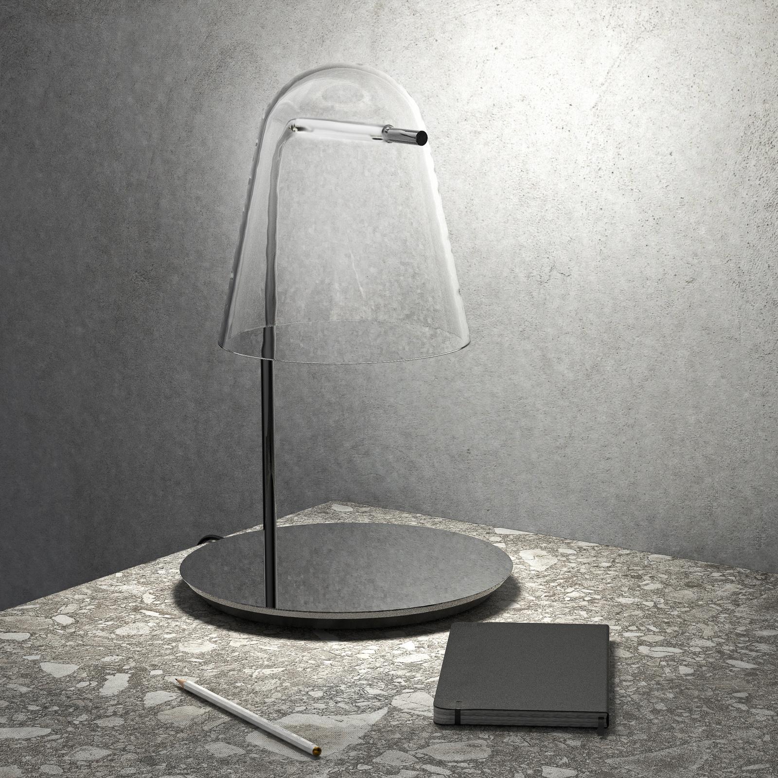 Prandina Sino T3 -LED-pöytälamppu kirkas/musta