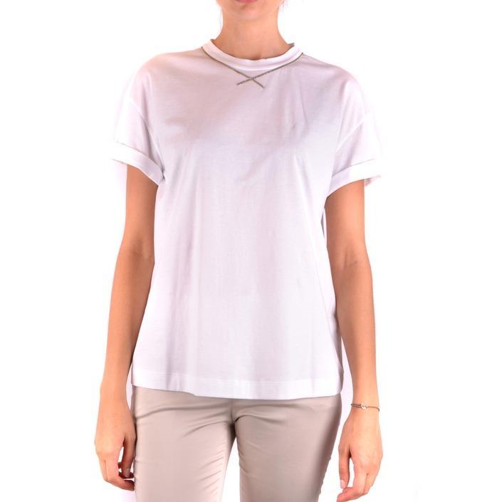 Brunello Cucinelli Women's T-Shirt White 163975 - white L