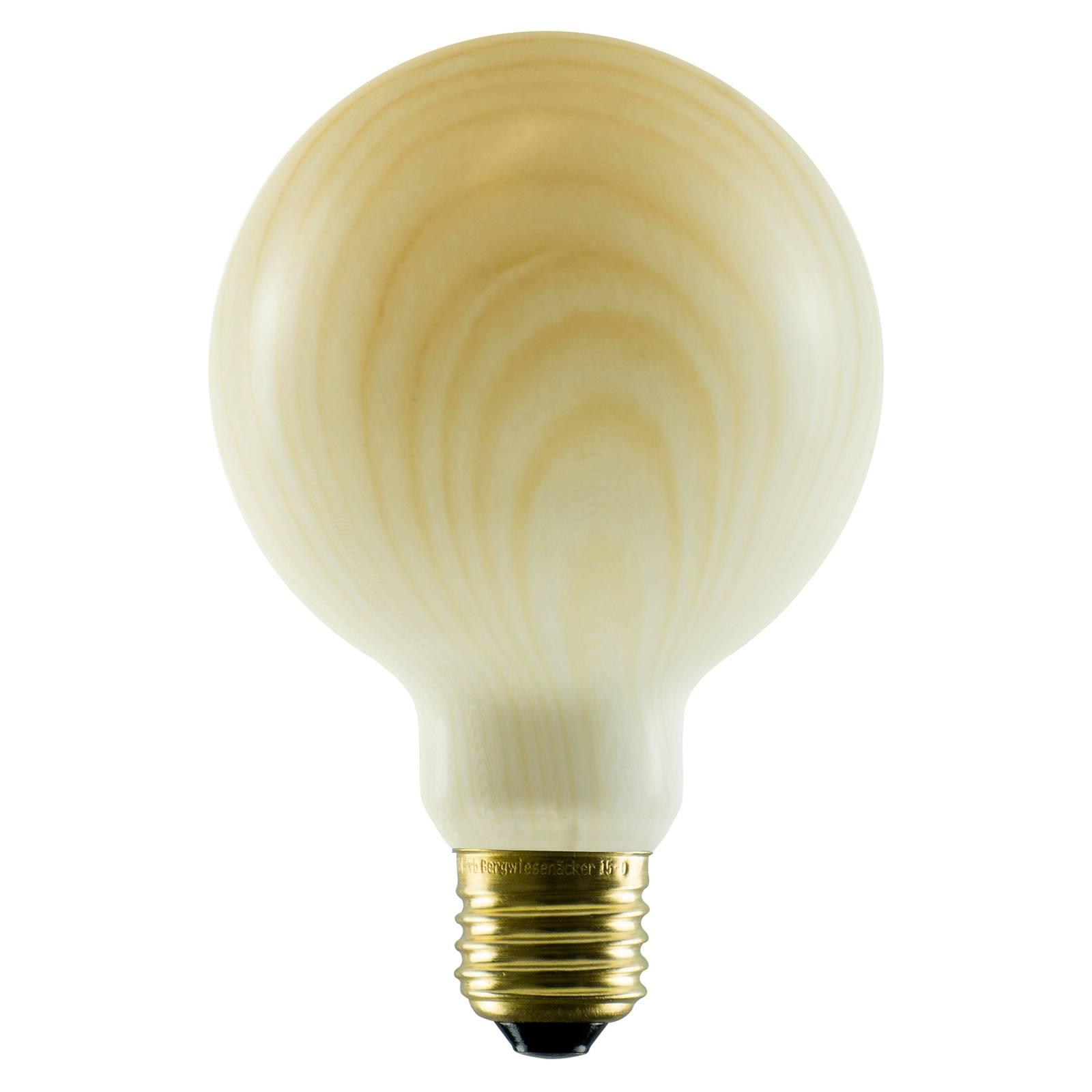 SEGULA LED-globe-lamppu G95 E27 8W puu-design