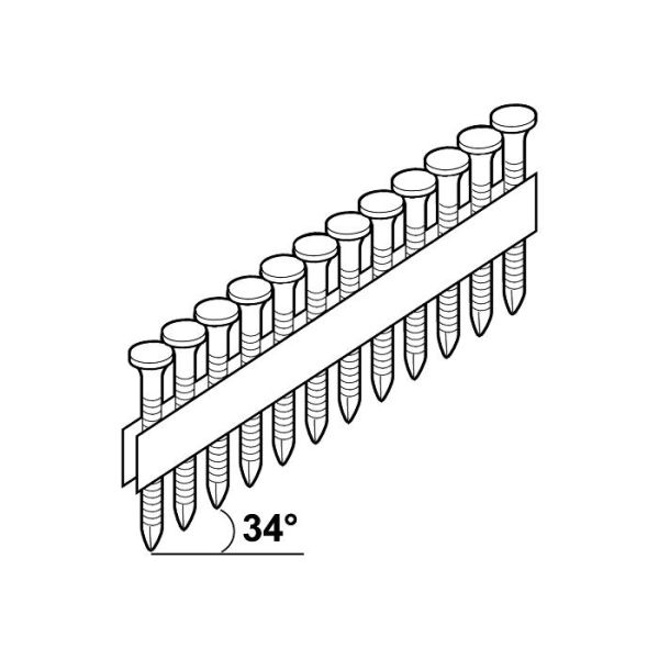 ESSVE FZV Ankerspiker 34°, 1200-pakning, 4,0x40 mm