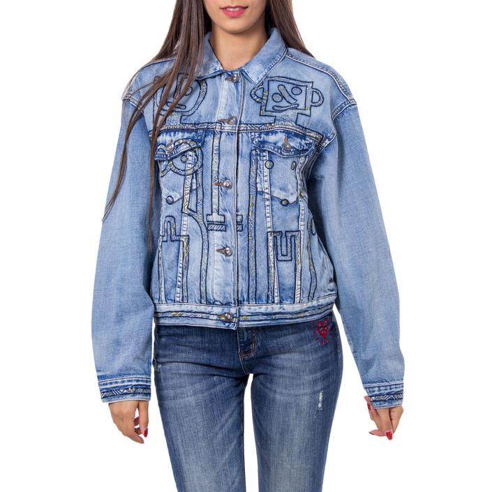 Desigual Women's Blazer Blue 167680 - blue M