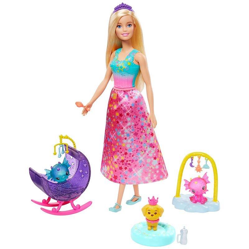 Barbie - Dreamtopia Nurturing Story - Princess w/ Honey & Baby Dragons(GJK51)