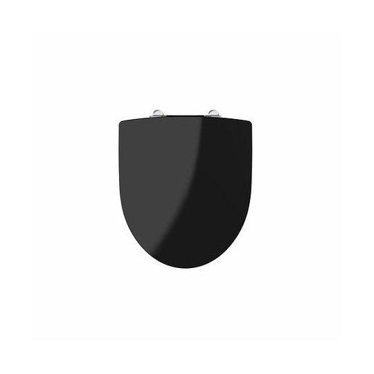 Ifö Spira WC-istuinkansi kromatuilla kiinnikkeillä Musta